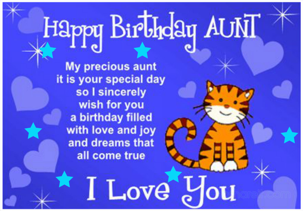 Happy Birthday Aunt. I love you