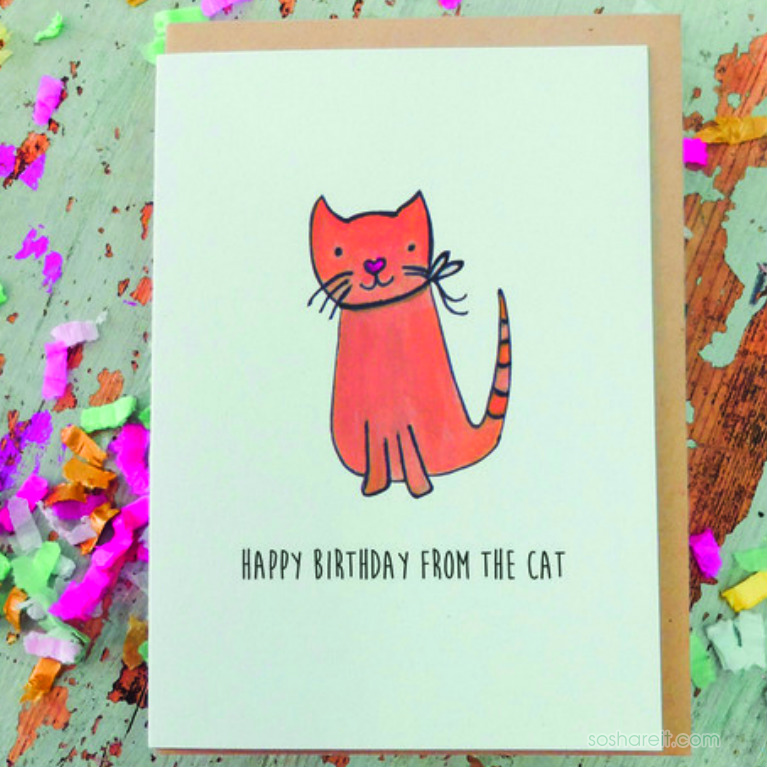 Happy Birthday From The Cat
