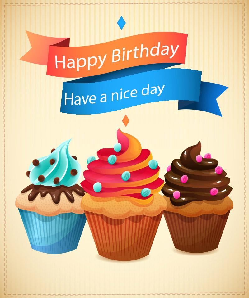 Happy birthday cupcake images