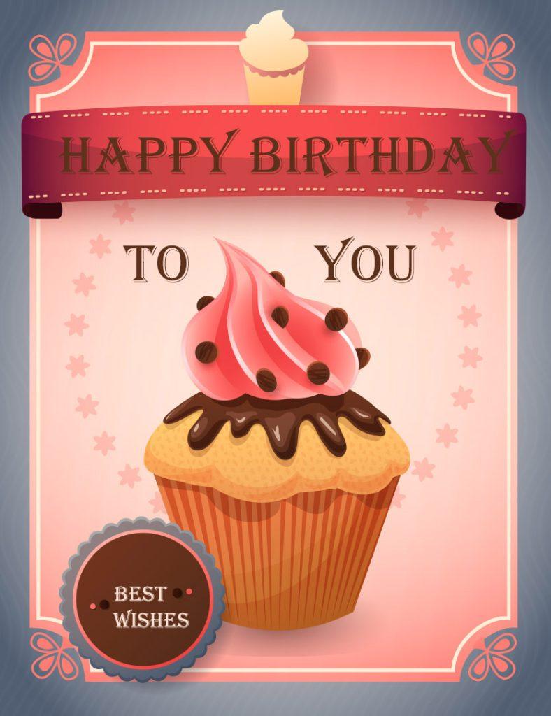 happy birthday image cupcake