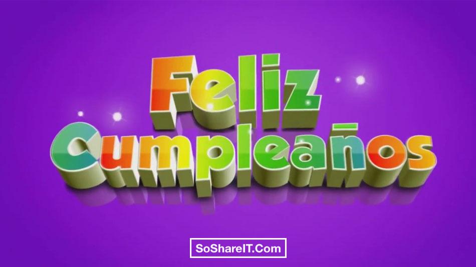 Background Happy birthday in Spanish